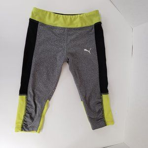 Puma Girls Size 6 Athletic Capri Leggings grey pol